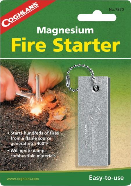 Amnar magneziu Coghlansideal pentru camping, outdoor, pescuit, calatorii, bushcraft. Perfect in situatii de supravietuire