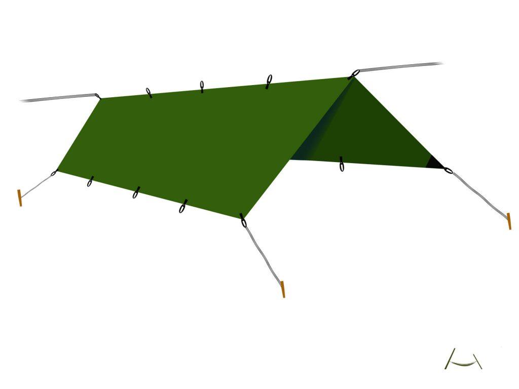 Tenda prelata- 3 ancorari de baza: A frame